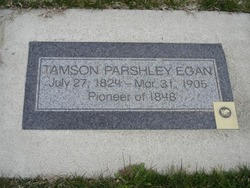 Tamson Parsley Egan grave marker